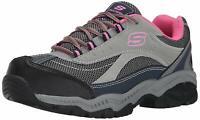Skechers for Work Women's Doyline Steel Toe Hiker Boot, Gray Pink, Size 7.0 hd99