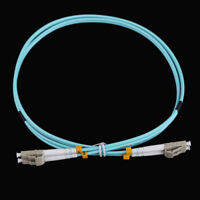 1m LC-LC Duplex 10 Gigabit 50/125 Multimode Fiber Optic Wire Cable OM3 Aqua 10GB