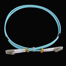 1m LC-LC Duplex 10 Gigabit 50/125 Multimode Fiber Optic Wire Cable OM3 Aqua 10GB