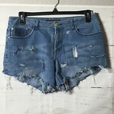 BACCINI Shorts Women's Size 12 Petite Ripped Destroyed Distressed Cut Up Hip Hop