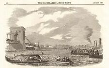 1857 ANTIQUE PRINT- GREAT BOAT RACE FOR THE CHAMPIONSHIP OF THE THAMES AND £400