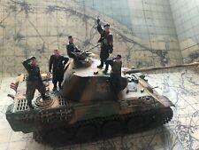 1/35 Tamiya Panther Tanque Con Resina tripulación. Construido y pintado