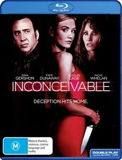Inconceivable (Blu-ray, 2018) Nicolas Cage, Gina Gershon, Nicky Whelan  REGION B