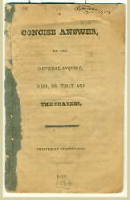 RICHARD McNEMAR Concise Answer To The General Inquiry... THE SHAKERS 1826