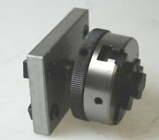 New 50 mm Dia 3 Jaw Chuck on Plate for Milling Slide (Ref: 145002)
