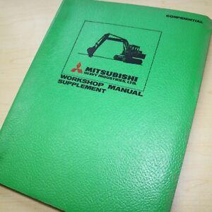 MITSUBISHI Excavator Hydraulic System SUPPLEMENT Repair Shop Service Manual book