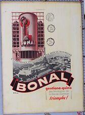 CARTON PUB PLV CH LEMEL  LE BONAL OUVRE L'APPETIT GENTIANE - QUINA  Circ 1925/40