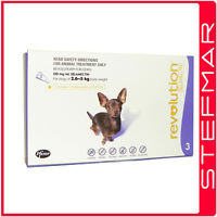 Revolution for Dogs 2.6-5Kg Small Purple 3Pk