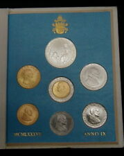 1987 Vatican (Italy) complete set coins UNC silver John Paul II in official box