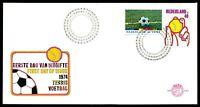 NIEDERLANDE FDC 1974 FUßBALL FOOTBALL FUTBOL SOCCER TENNIS bv37