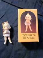 "Precious Moments ""Lord, Keep Me On My Toes"" Ornament 102426 1986 With Box"
