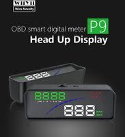 "HUD P9 4.6"" Car Consumption Smart Digital Meter Heads Up Display Speedometer"