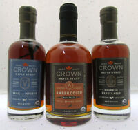 Crown Maple Syrup ~ Vanilla Amber Bourbon ~ Artisan Quality ~ 3 Bottle Lot