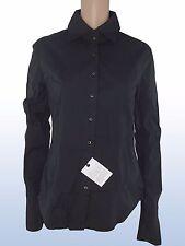 carlo chionna 9.2 camicia donna nero made italy taglia it 46 xl extra large