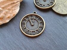 Antique Bronze Clock Watch Charms 5pcs D2 Steampunk Vintage Pendants Kitsch