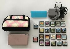 Nintendo DS Lite Pink With 22 Games Carry Case Gameboy Lot