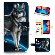 ( For Samsung A20 ) Wallet Flip Case Cover AJ21375 Spirit Wolf
