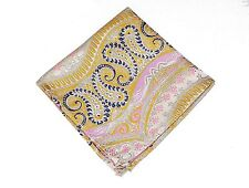Lord R Colton Masterworks Pocket Square - Galapagos Sun Yellow Silk - $75 New