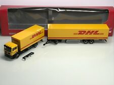Herpa Deutsche Post DHL MAN TGA M Roadtrain Gigaliner Koffer HZ (Mo2677) -selten