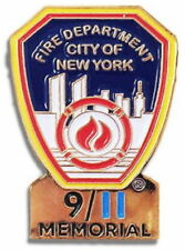9/11 MEMORIAL PIN Fire Department City of New York SEPTEMBER 11, 2001 911 FDNY