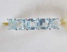 Sky Blue Topaz Five-Stone Ring in Sterling Silver, size 6.75