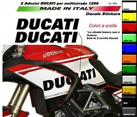 Adesivi Ducati per fiancate Multistrada 1200 2010-2014