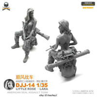 1/35 Female Soldier LARA Resin Kits Unpainted Figure GK YUFAN Model