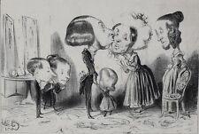 Honore Daumier France 1808-1879 Lithograph LE JOUR DE L'AN 1838 Large heads