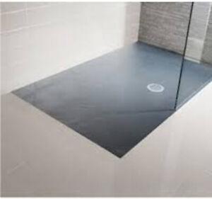 Simpsons Rectangle Shower acrylic Tray 1700x800x38mm slate grey AS8X1700SL