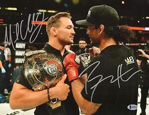 Michael Chandler & Benson Henderson Signed 11x14 Photo BAS Beckett COA Bellator