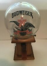 New listing Vintage Budweiser Beer Sign Peanut Candy Gumball Dispenser Machine Glass Globe