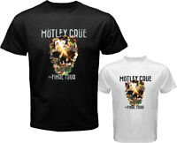 New MOTLEY CRUE *The Final Tour Rock Band Men's White Black T-Shirt Size S-3XL
