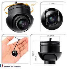 Mini 360° caméra de recul  auto voiture Caravane Remorque avant arrière côté CCD