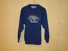 Vantage Sweatshirt College 80% Cotton 20% Polyester Unisex Adult S Blues Solid