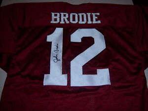 JOHN BRODIE STANFORD CARDINAL,SANFRANCISCO 49ERS W/COA SIGNED JERSEY