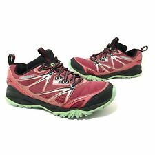 Merrell Womens Capra Bolt Bright Red Hiking Walking Shoes Size 8