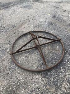 Antique Cast Iron Clothing Rack Industrial Rounder 1890s Top Portion