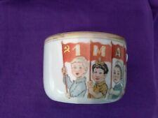 Russian Propaganda porcelain Soviet USSR Cup Soviet holiday 1 May USSR