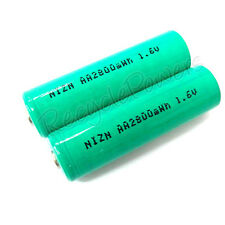 8 AA 2800mWh NiZn 1.6V rechargeable battery G Free case