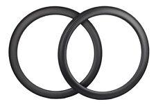 1 pair 12K matte 50mm Carbon Rim Clincher 700C Road Bicycle Rim 25mm width