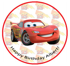 """LIGHTNING MCQUEEN 8"""" Round Icing Image Edible Printed Cake Decoration Topper"""