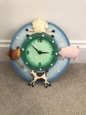 Vintage M&S Farmyard Animal Kitchen Wall Clock