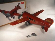 TINPLATE TOY CLOCKWORK WIND UP PLANE  REPRODUCTION ANTIQUE VINTAGE JUNGERS PLANE