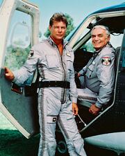 AIRWOLF 8X10 JAN MICHAEL VINCENT ERNEST BORGNINE COL