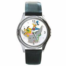 Pluto & Donald On Dumbo Round Metal Watch watch (round metal wristwatch)