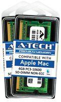 8GB 2 x 4GB PC3-10600 1333 SODIMM Memory RAM for APPLE MacBook Pro iMac Mac mini