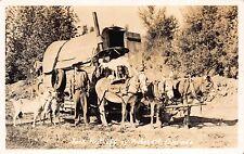 Real Photo Postcard Jack Ratliff Mule Wagon in Pritchett, Colorado~111580