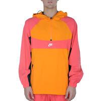 Nike Sportswear Jacket Uomo BV5385 873 Bright Ceramic Ember Glow Black White