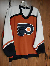PHILADELPHIA FLYERS hockey 2 jersey lot NHL size men's Large CCM Eric Lindros
