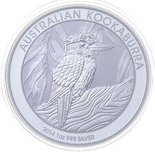2014 Australian Australia Kookaburra High Relief 1 Oz Silver .999 *142